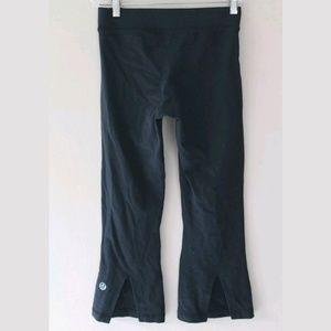 LULULEMON Athletica Black Crop Yoga Flare Pants